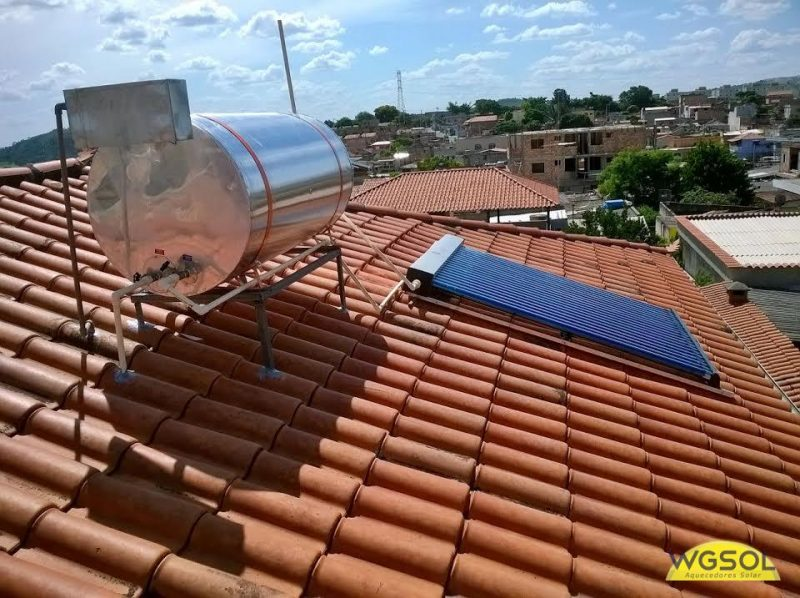 aquecedor solar a vácuo, muito eficiente no aquecimento da água residencial