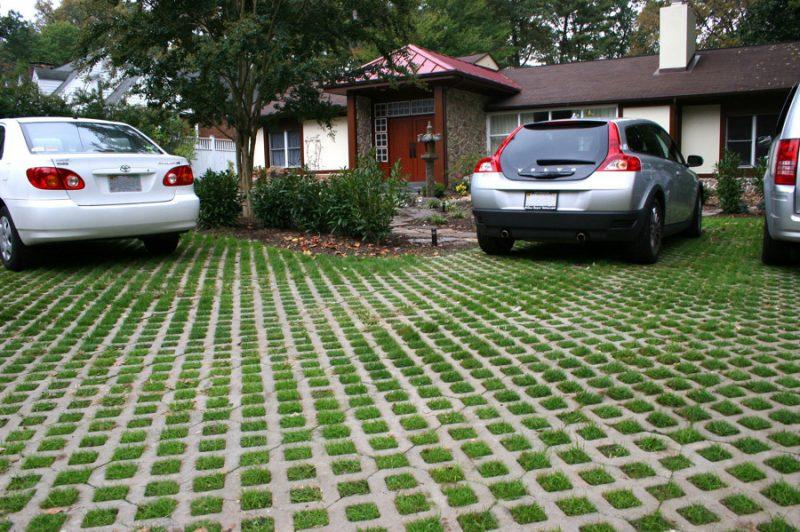 Exemplo do uso do piso de grama
