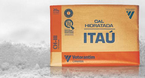 Cal hidratada Itaú, da Votorantim, vendida em sacas de 20kg