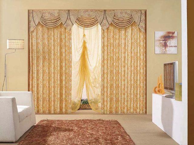 Tecido de cortina de quarto de casal que mesca o bordado com Sarja