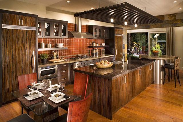 cozinha revestimento madeira