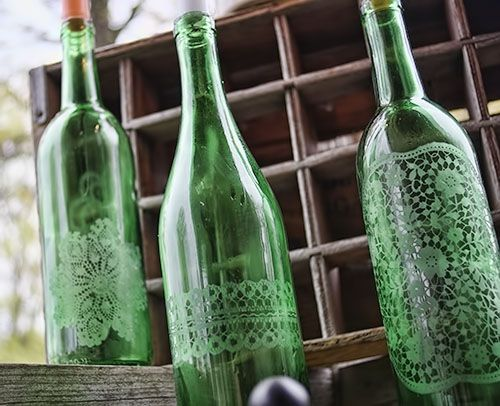 garrafas vidro jateado