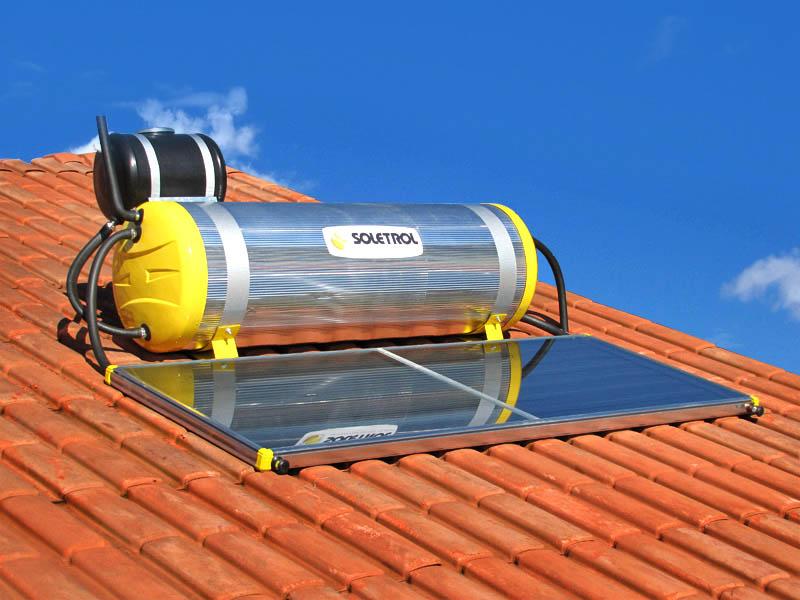 Aquecedor solar para água com boiler
