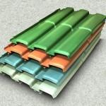 Telhas de plástico reciclado, modelo telha romana