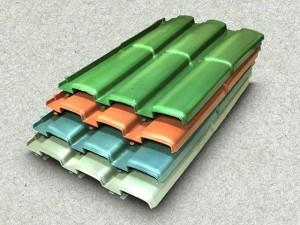 Telhas de plastico reciclado