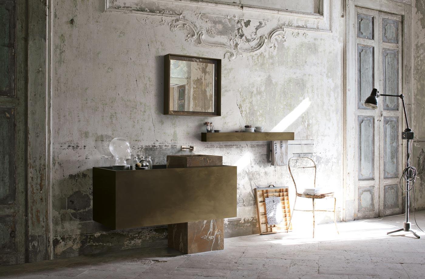 outra ideia de móveis modernos em um banheiro cássico