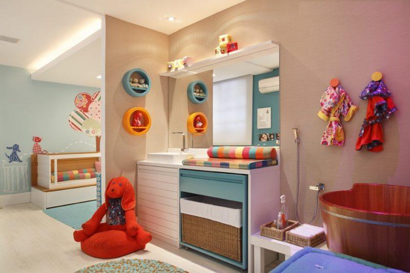 E por último, uma decoração colorida e instigante para banheiro infantil