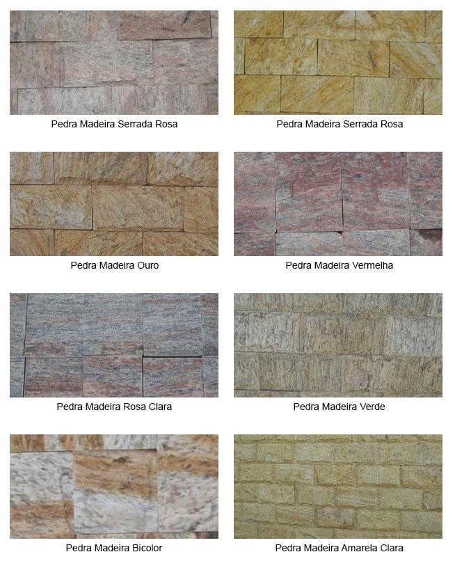 Cores de pedra madeira que podem ser encontradas no mercado, dependendo da região