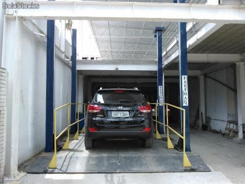 Elevador veicular para garagem de 2 pavimentos
