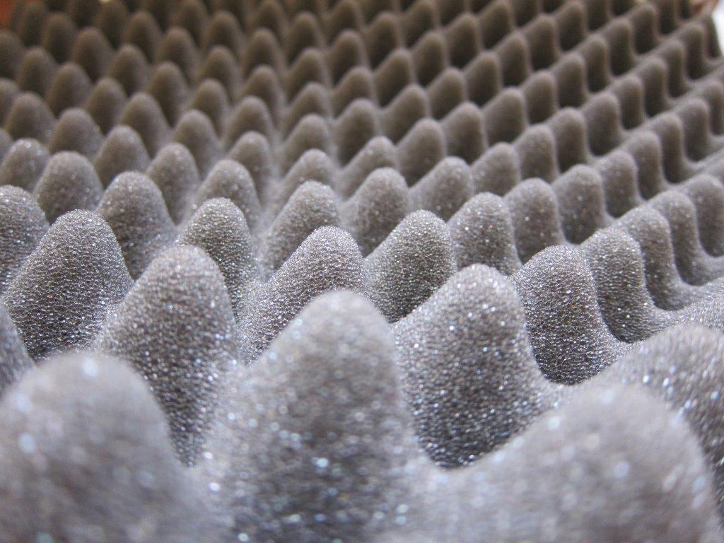 Textura da Espuma acústica sinus, uma das mais utilizadas do mercado