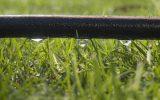 O método mais comumente utilizado é o gotejamento superficial do solo, por meio de tubos perfurados que liberam água