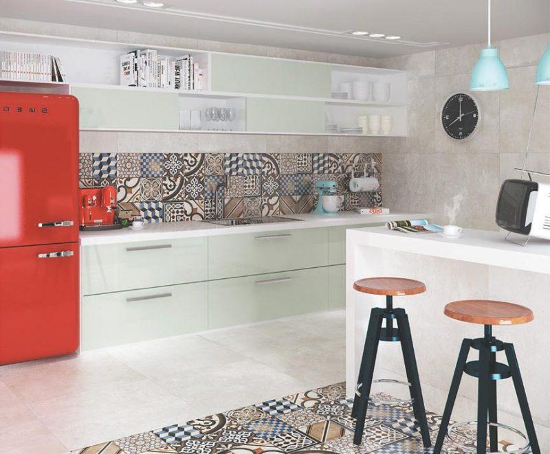 Parede de cozinha com Azulejos Cerâmicos