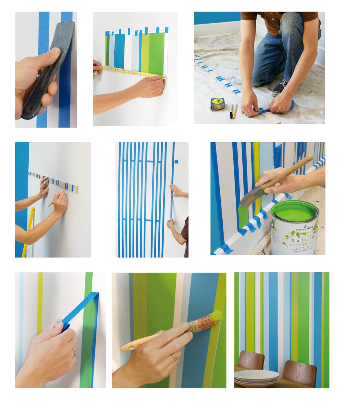 65 ideias de paredes listradas fotos modelos e dicas - Pintura metalizada para paredes ...
