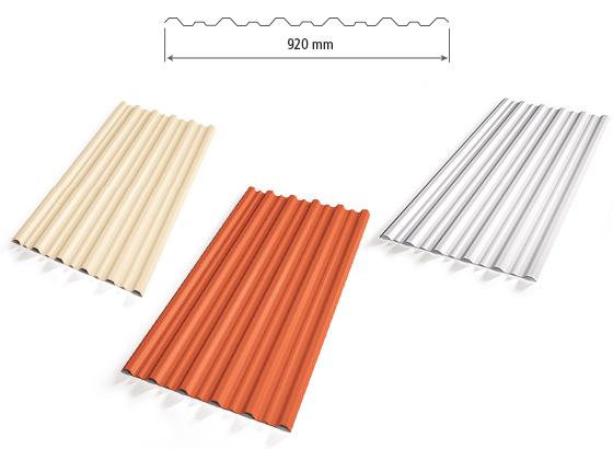 Telhas trapezoidais da Precon, com tamanhos de até 5 metros de comprimeito