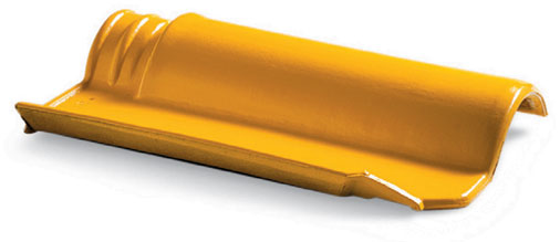 Telha americana esmaltada amarela