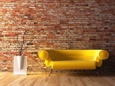 alvenaria aparente na sala de estar