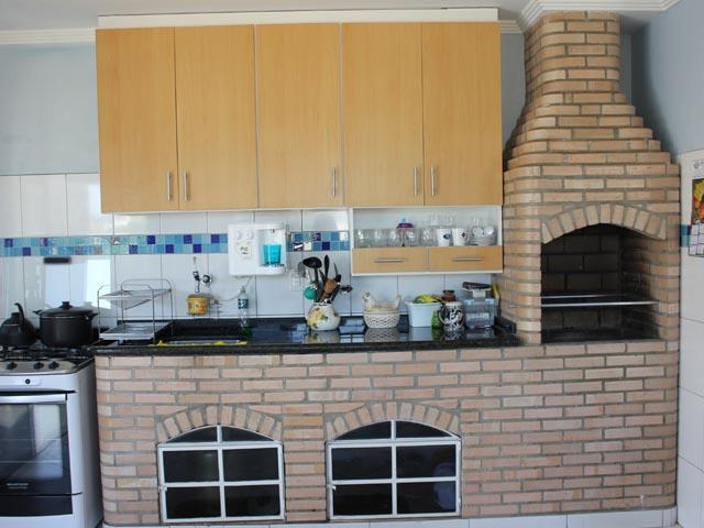 Bancada de cozinha de tijolo refratário