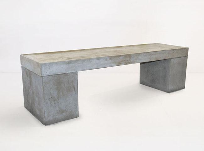 Modelo simples e minimalisata de banco de concreto para o jardim