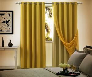 cortina blackout amarela