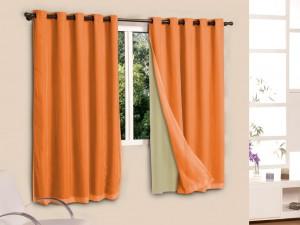 cortina blecaute laranja