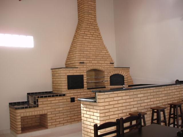 Área Gourmet de tijolo Refratário