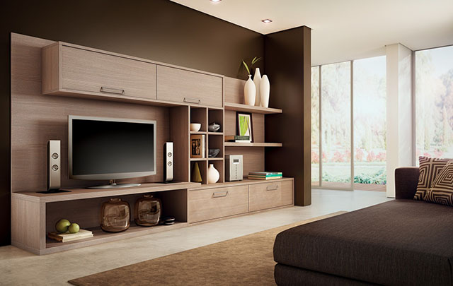 Estante moderna para a sala de Home Theater
