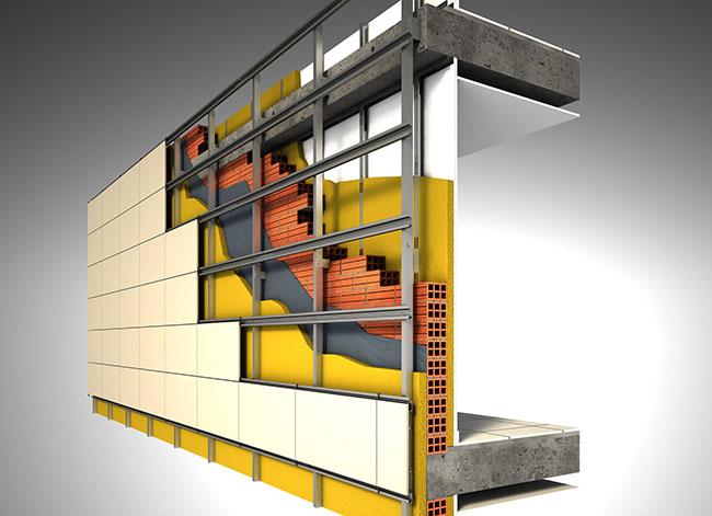 tecnologia em fachadas ventiladas