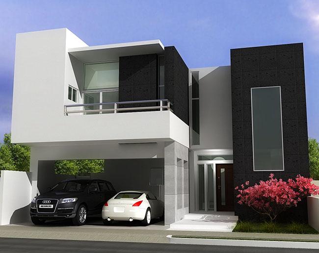 60 ideias de decora o preto e branco modelos e fotos for Modelos de casa estilo minimalista