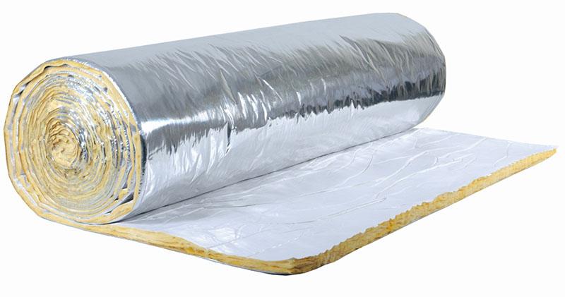 Manta de lã aluminizada para aplicação sobre o telhado