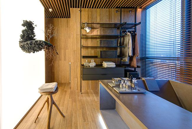 Além do piso, as chapas de bambu podem também ser usadas no revestimento de paredes