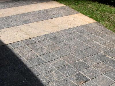 Calçada em pedra Miracema