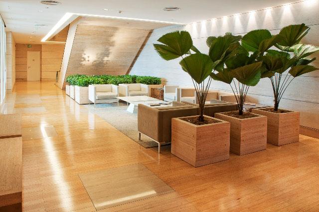 Em grandes espaços, o piso de bambu torna-se uma alternativa econômica de revestimento de piso