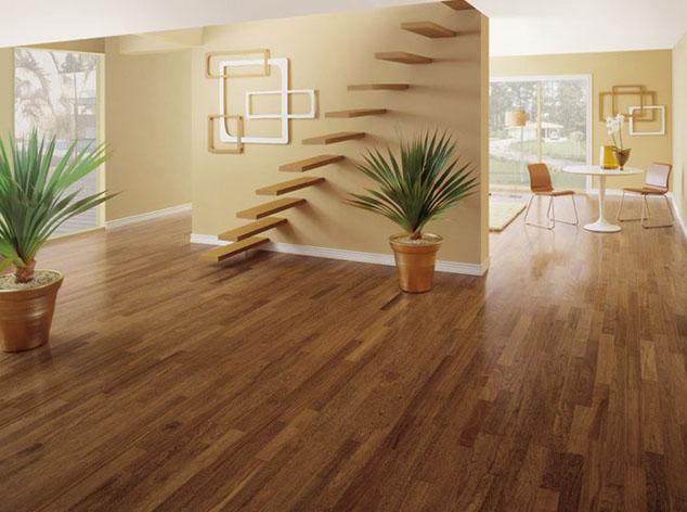O uso do piso de bambu pode substituir totalmente o piso de madeira, com um efeito visual muito parecido