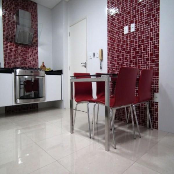 Porcelanato branco para cozinha