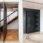 Porta pivotante para a sala de estar