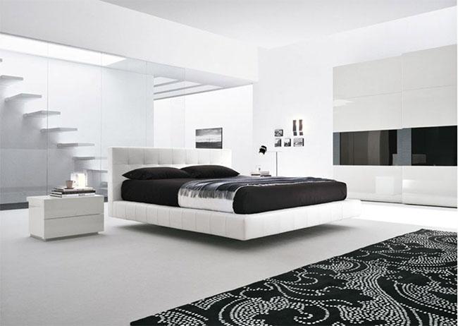 Quarto decorado em preto e branco Quarto decorado em preto e branco 2