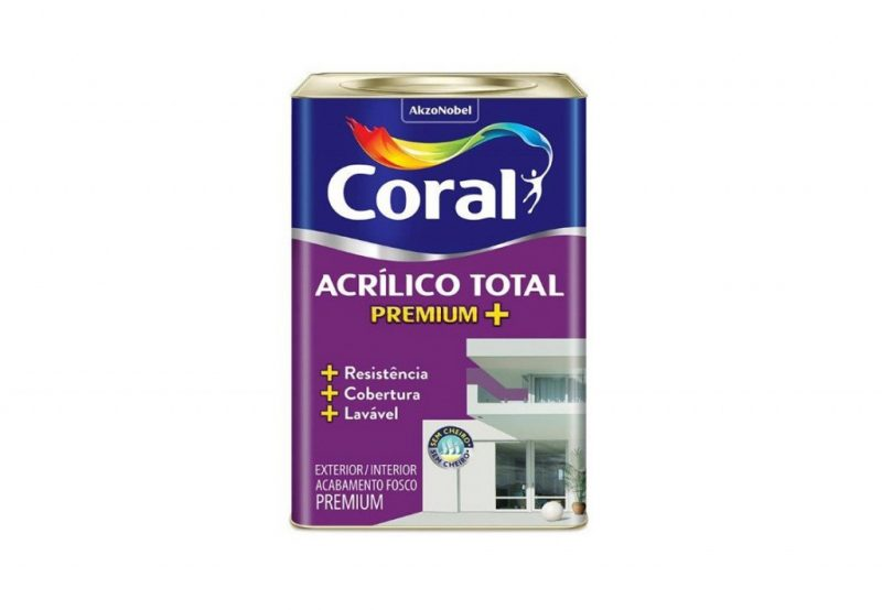 tinta acrílica coral
