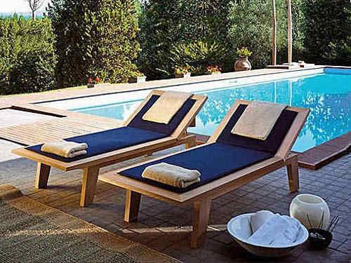 Cadeiras para piscina estofadas