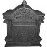 Caixa de correio em ferro fundido tradiconal