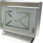 Caixa postal de inox com vidro jateado