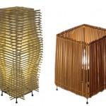 Luminária de varetas de Bambu