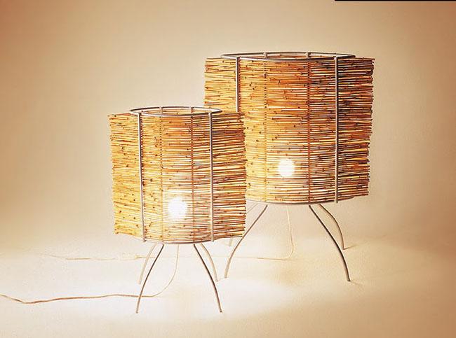 Luminária alternativa em bambu