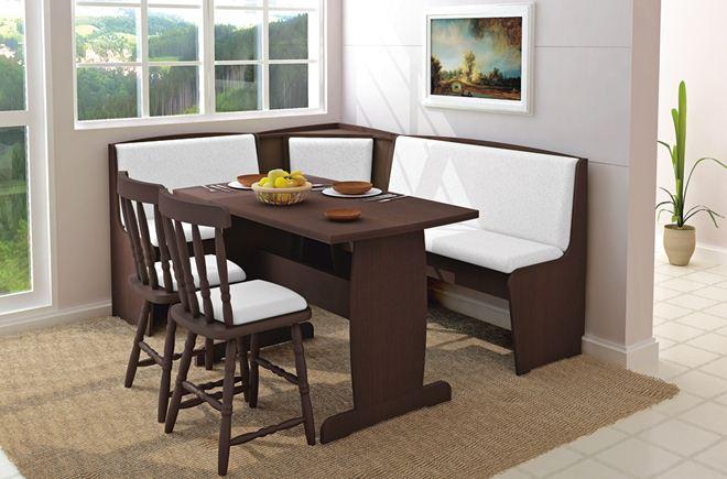 Mesa simples de jantar de canto