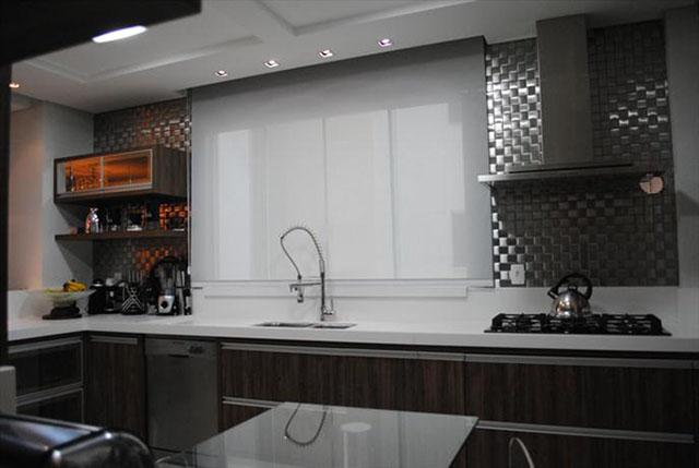 cozinha com patilhas de inox da Materiali