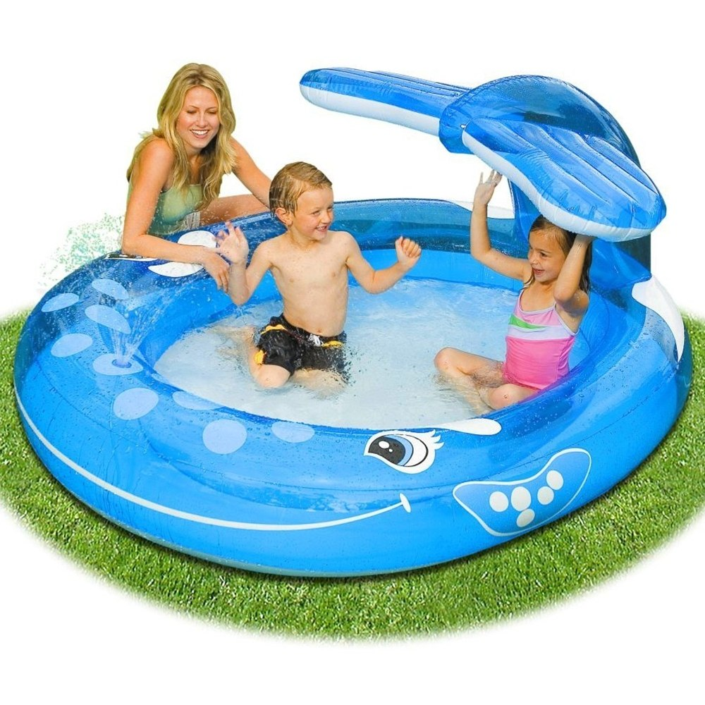 Pequena piscina inflável para crianças, ideal para o jardim
