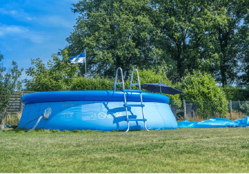 Piscina inflável comum de jardim para o lazer no verão