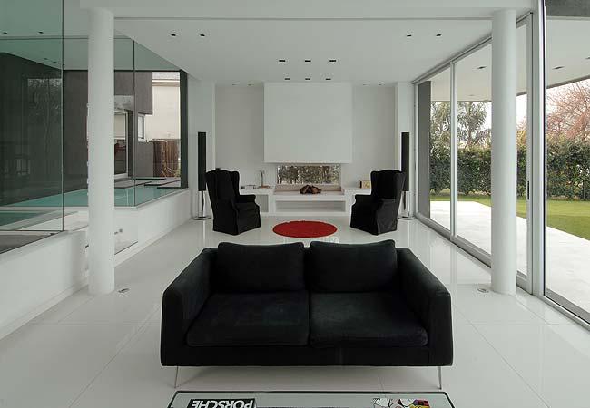 piso de sala moderna em porcelanato polido