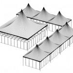 Modelo de tenda modular para eventos