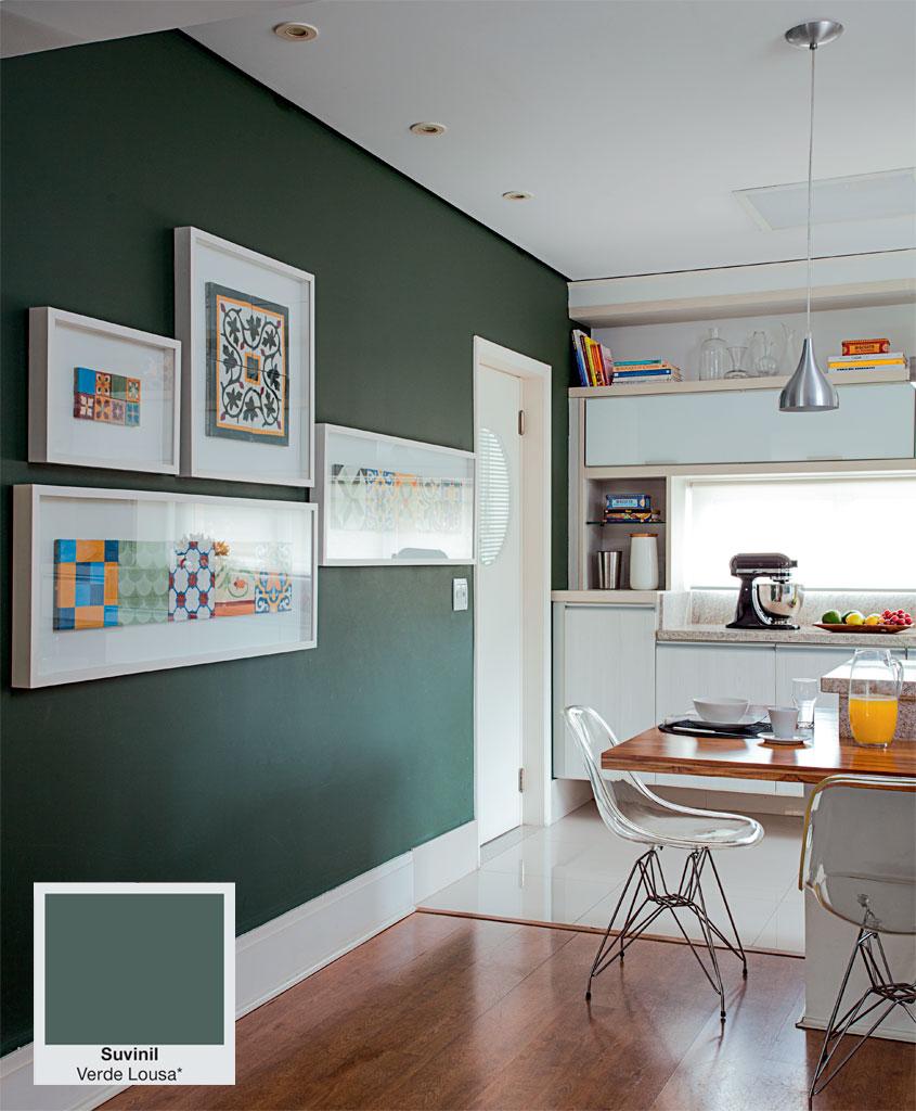 Tinta esmalte fosco verde escuro sala de estar