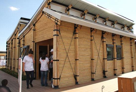 Casa contemporânea de bambu